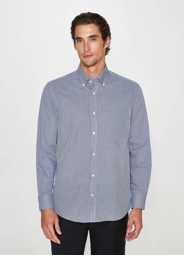 Camicia formale regular fit a quadri