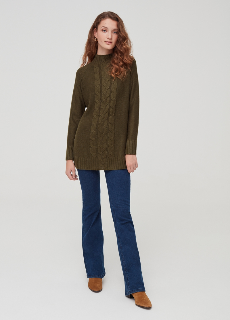 Long pullover with high neck image number null