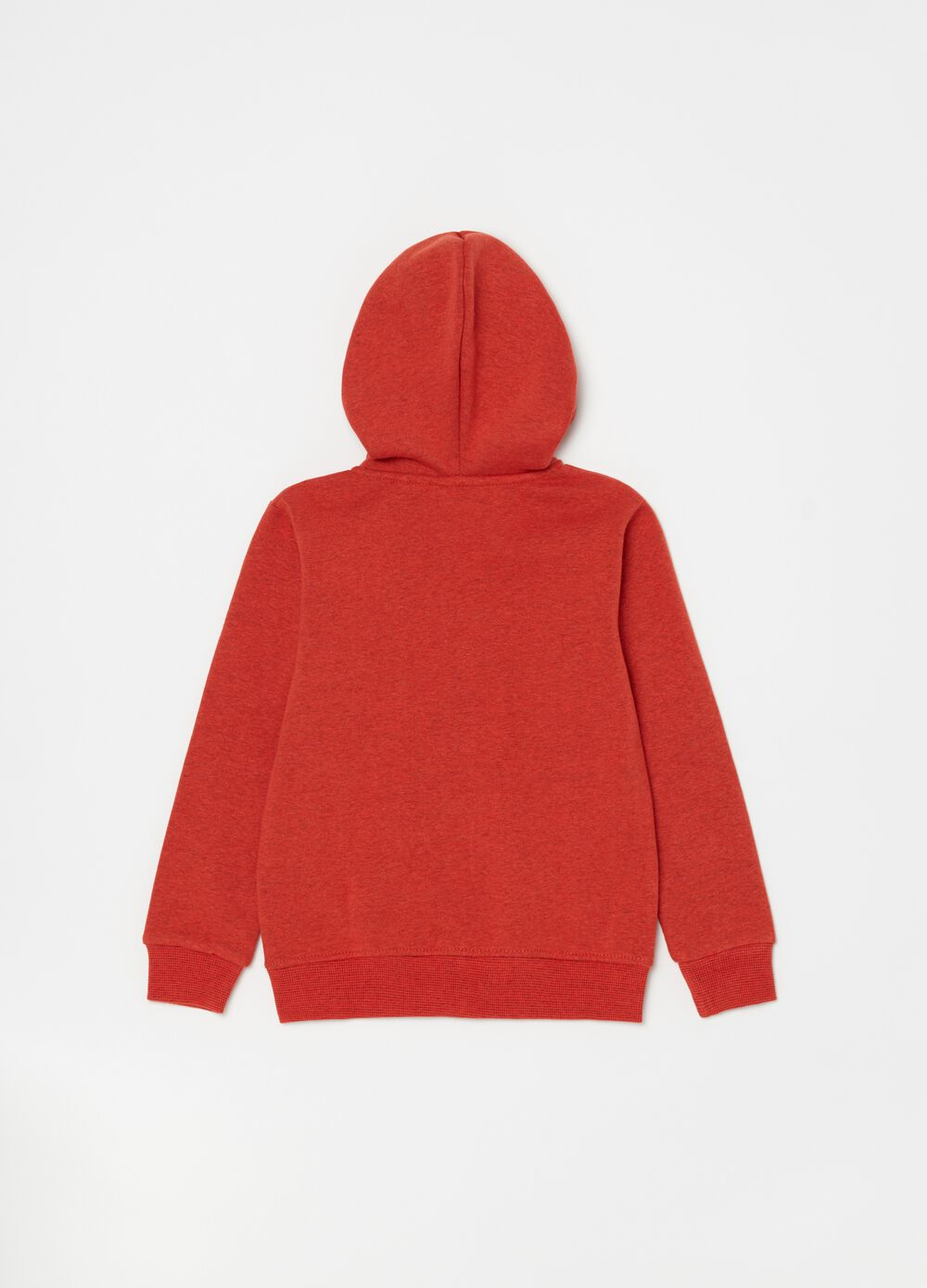 Mélange sweatshirt with hood and zip