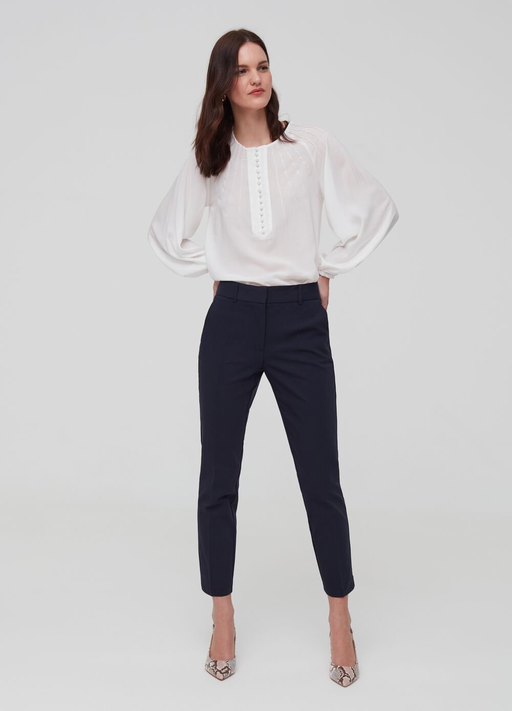 Chino trousers with stretch pockets
