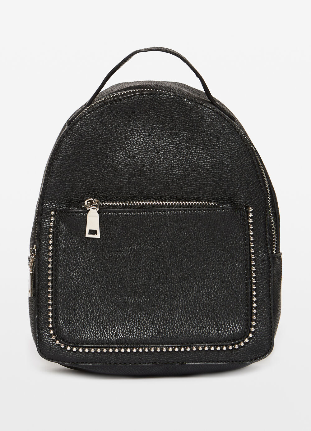 Solid colour backpack with studs