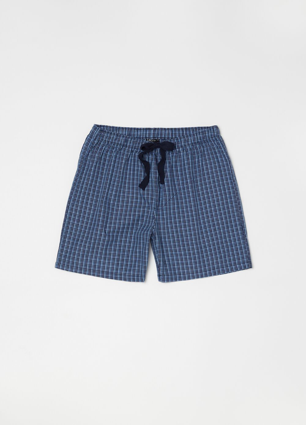 Patterned pyjama shorts with pocket