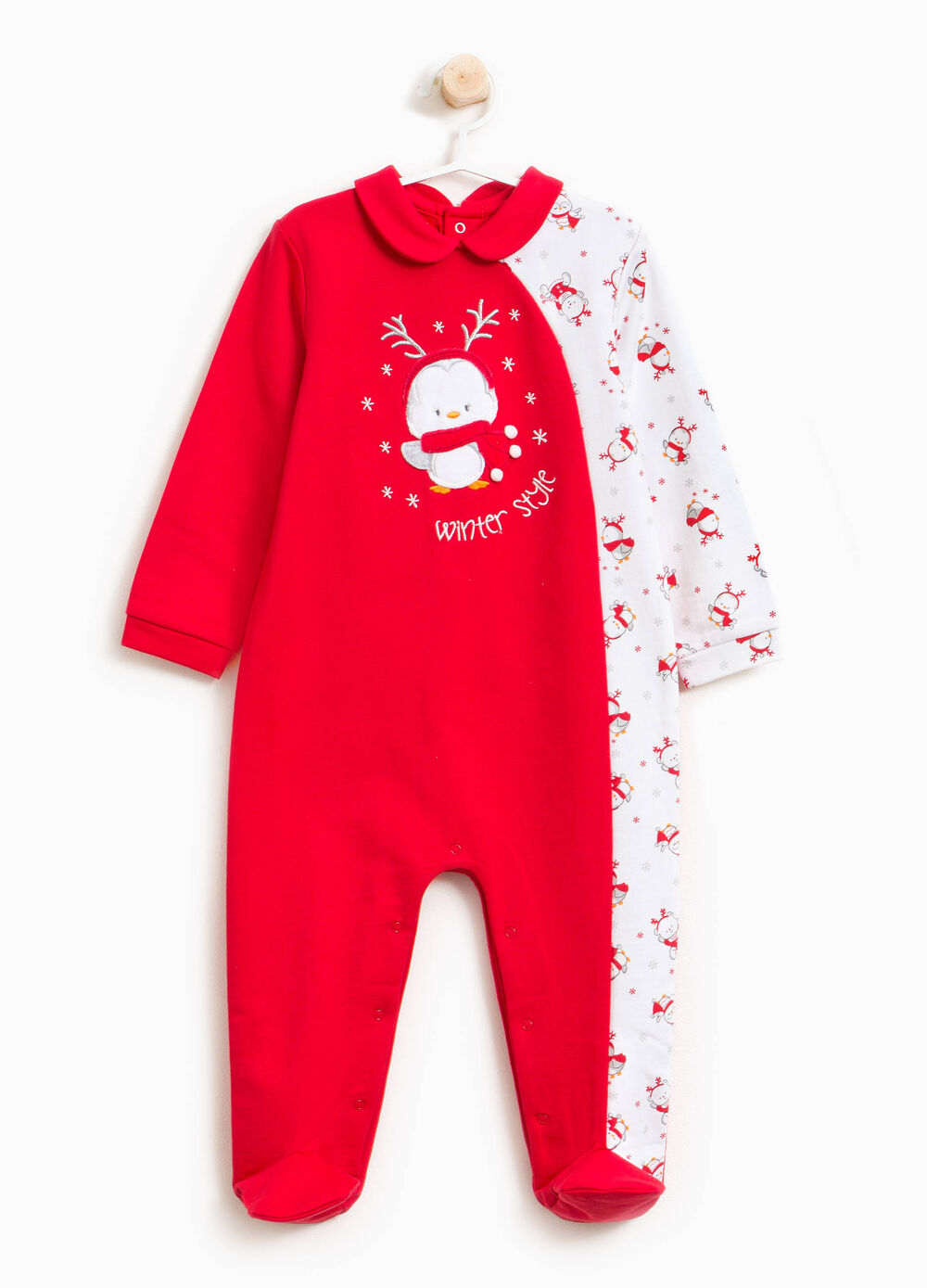 100% cotton onesie with Christmas print