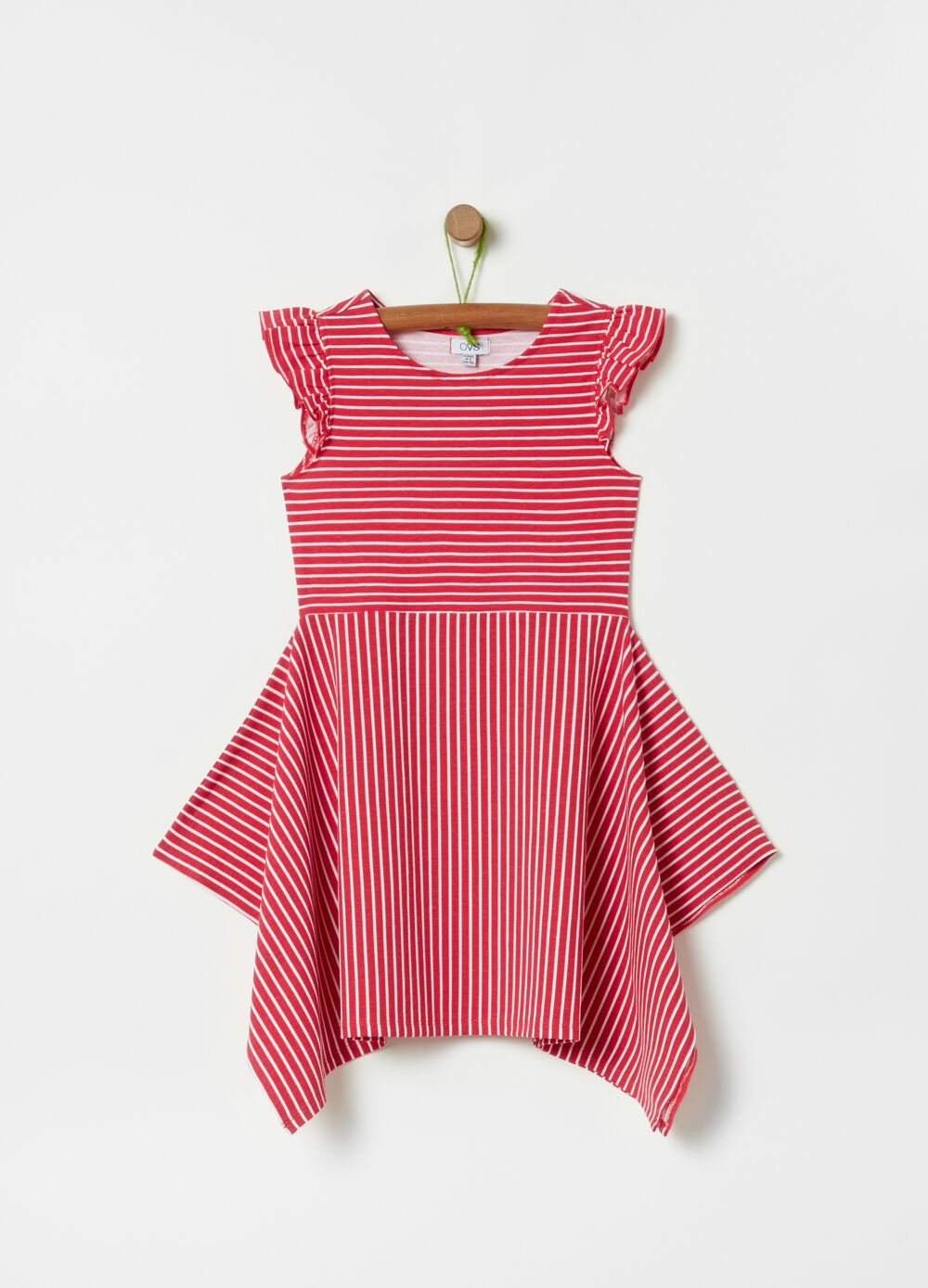 All-over striped print dress