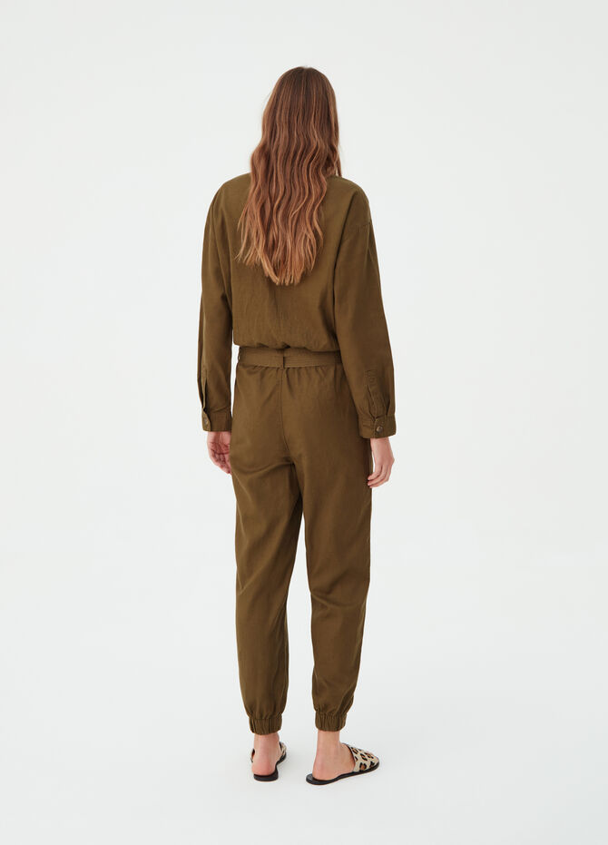 Earth Day playsuit with lyocell blend belt