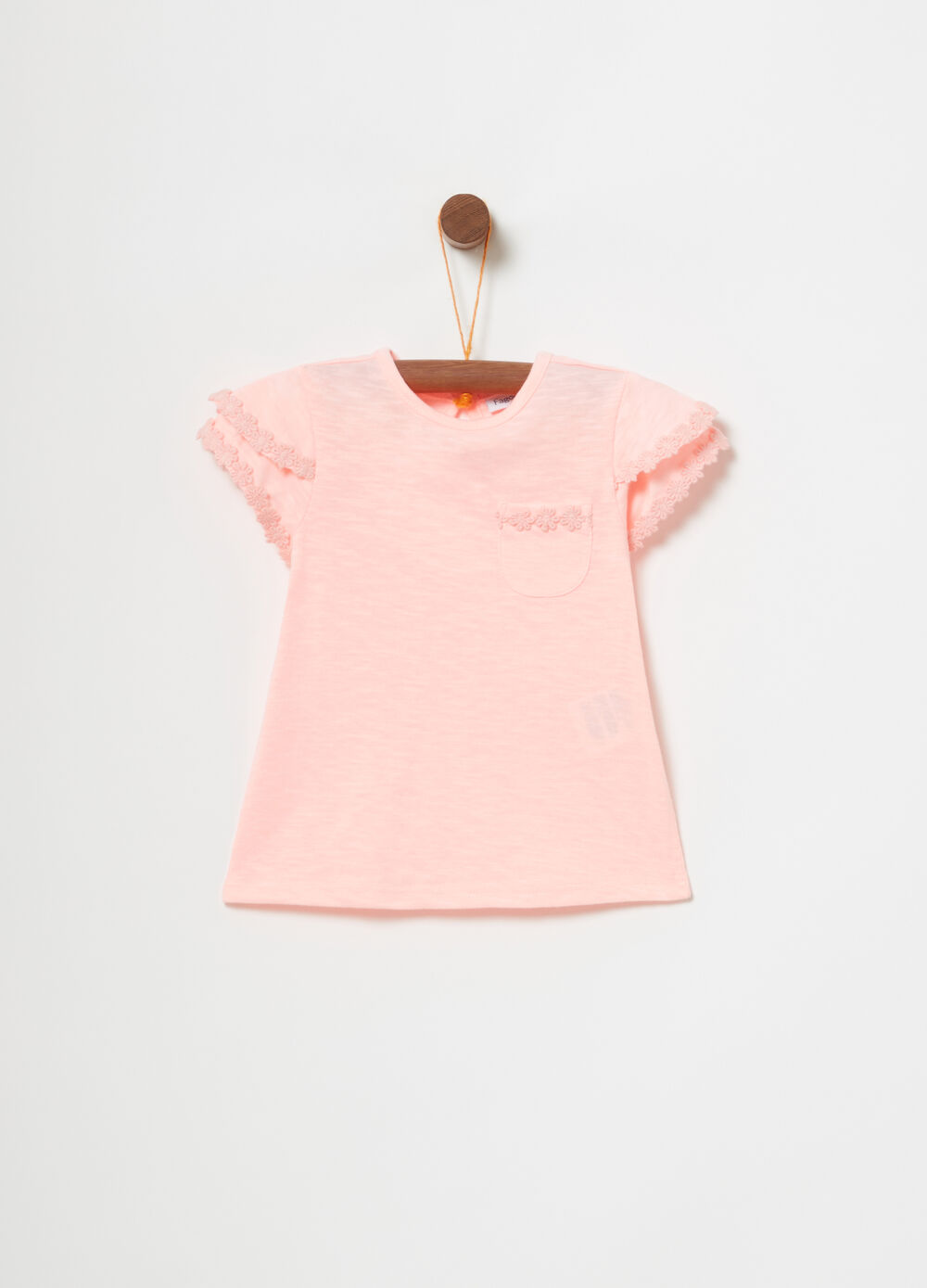 T-shirt with double sleeves and trim