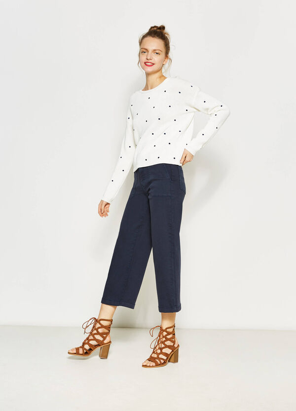 Pantaloni baggy fit in cotone stretch | OVS