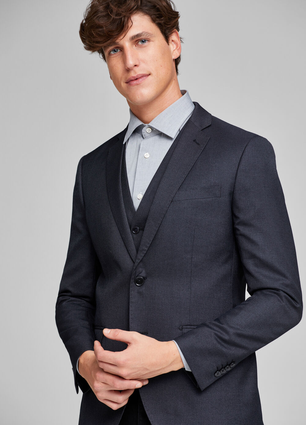 Elegant two-button slim-fit jacket