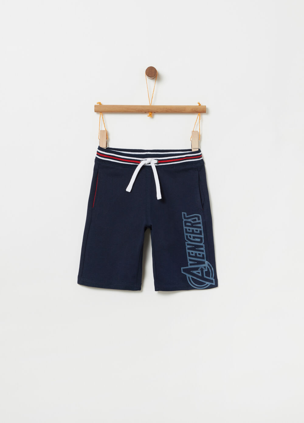 French Terry Marvel Avengers shorts