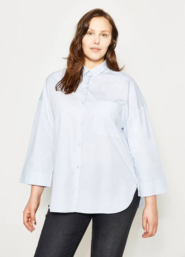 Curvy wide shirt with pocket   OVS