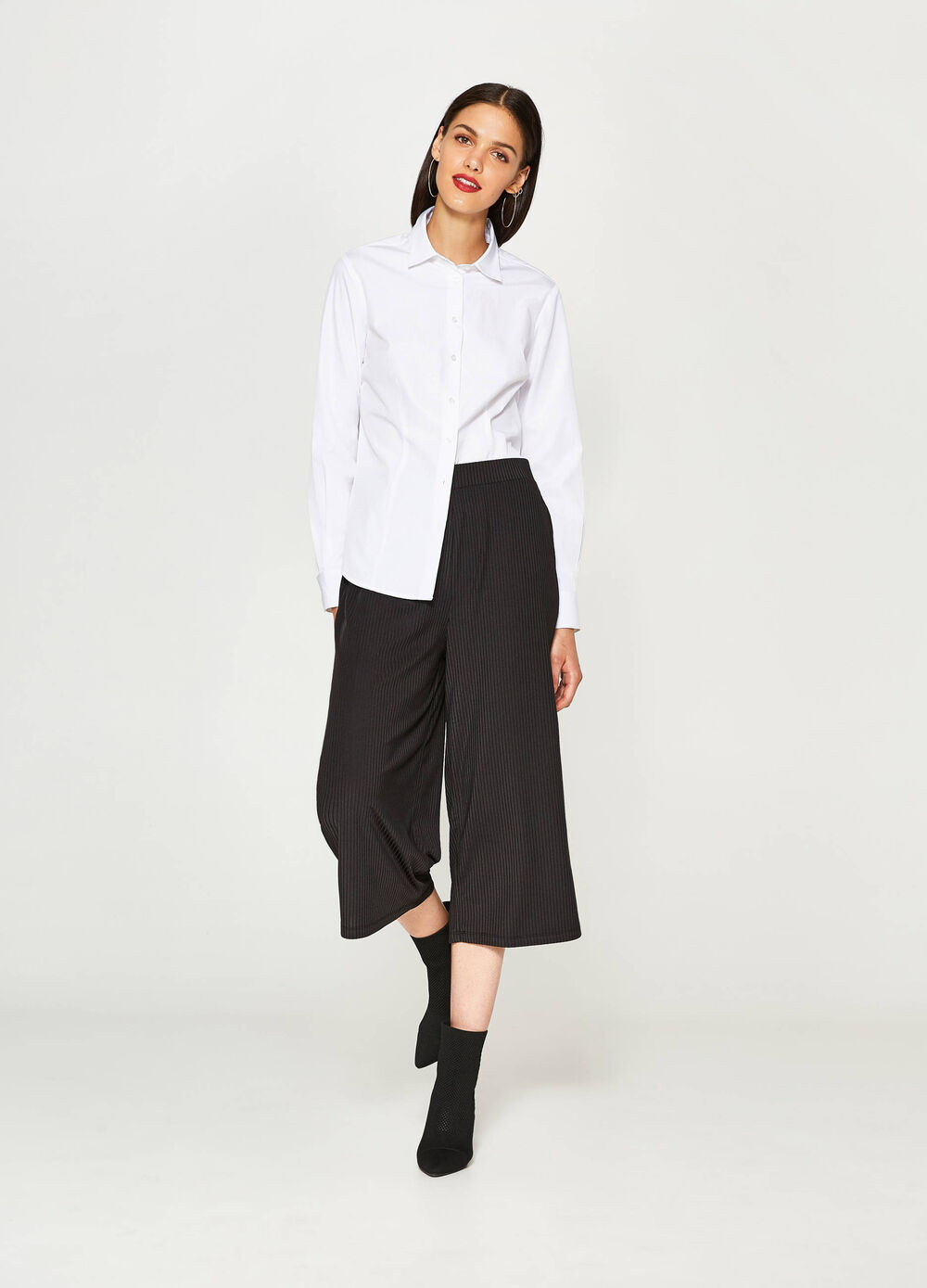 Gaucho model striped trousers
