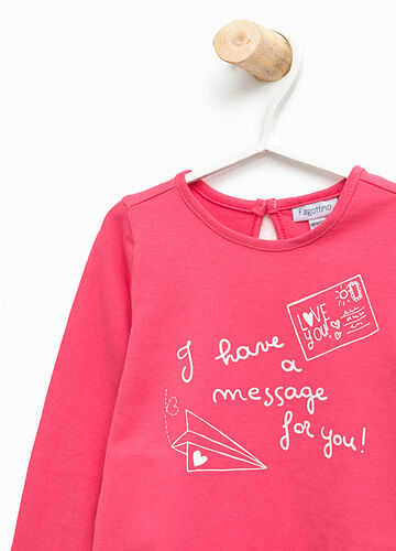 T-shirt stampa lettering in cotone