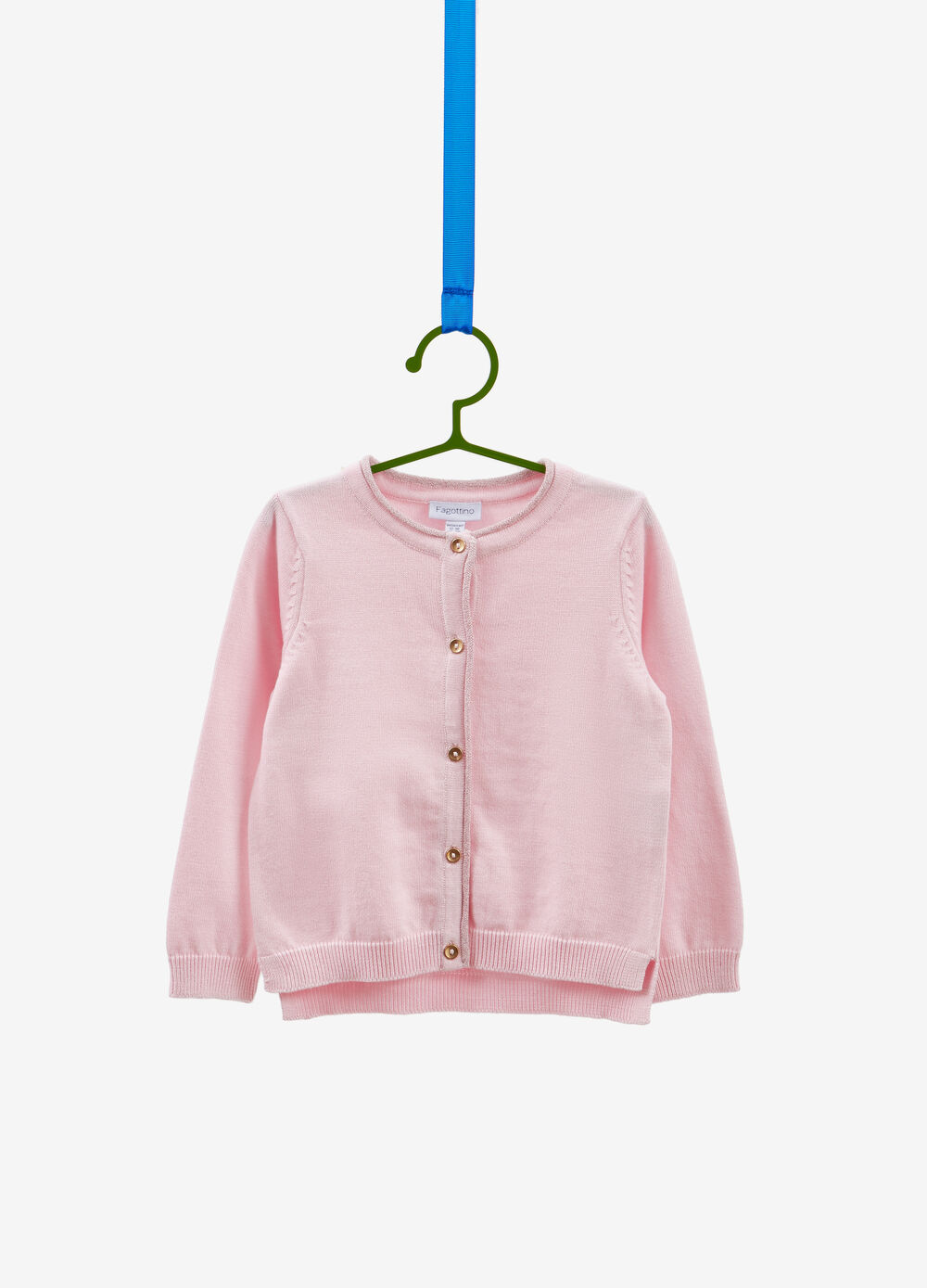 100% cotton cardigan with glitter