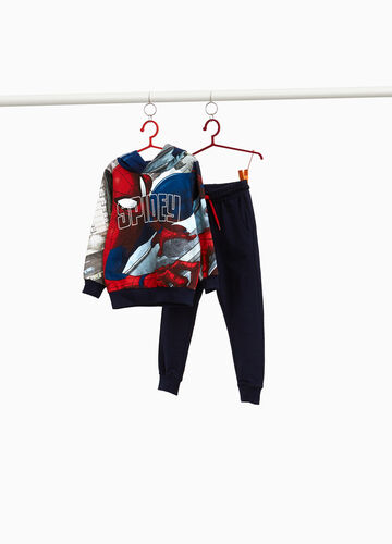 100% cotton tracksuit with Spiderman pattern