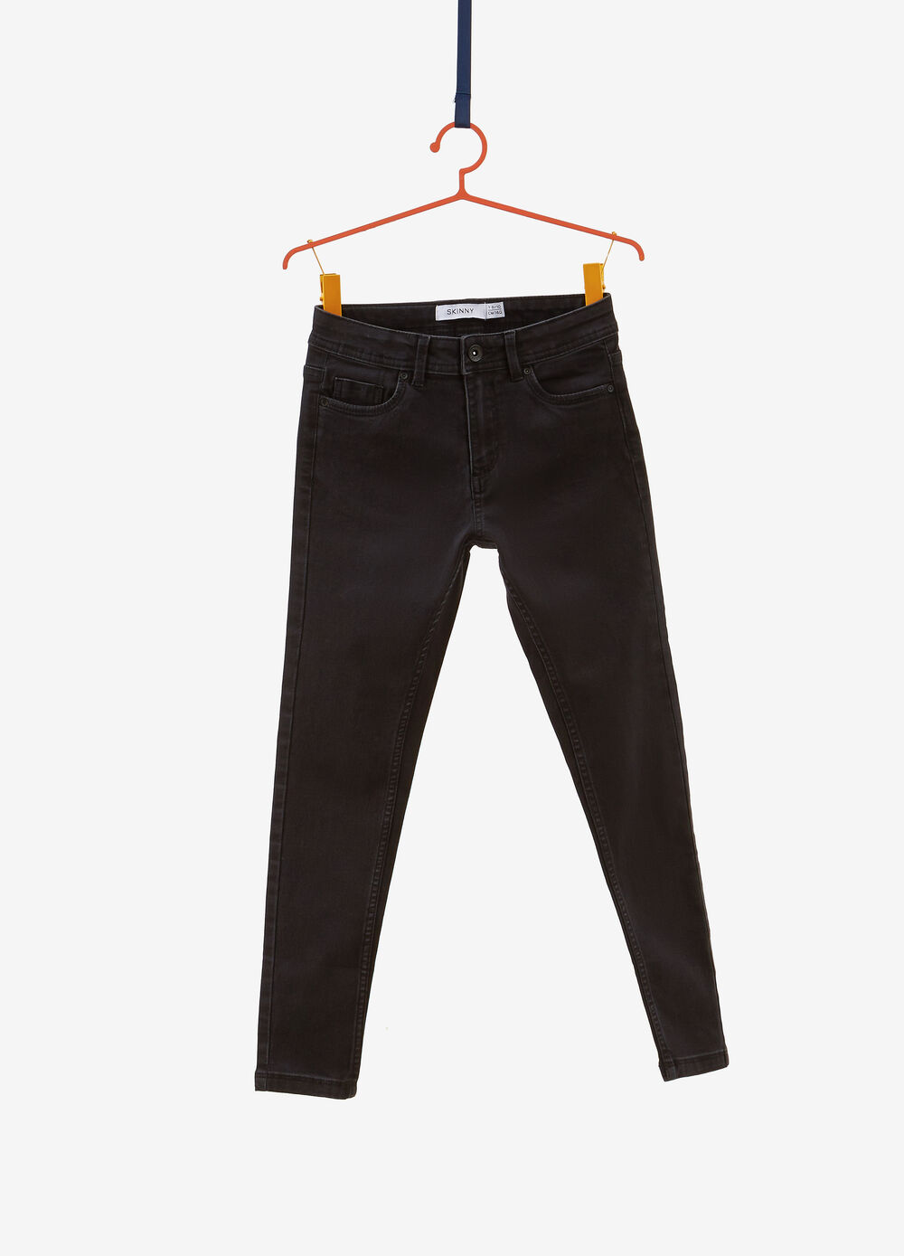 Solid colour skinny fit stretch jeans