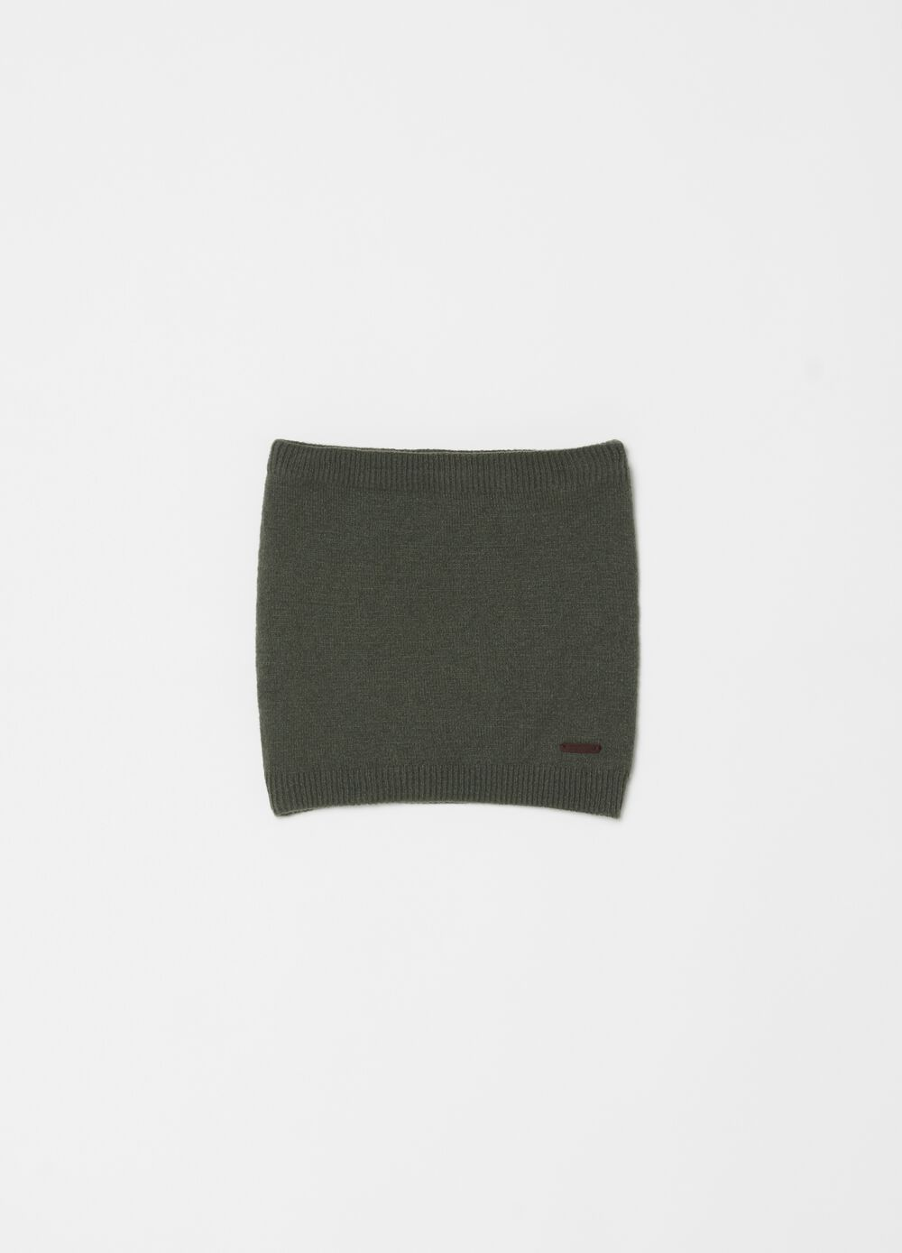 Solid colour ribbed neck warmer