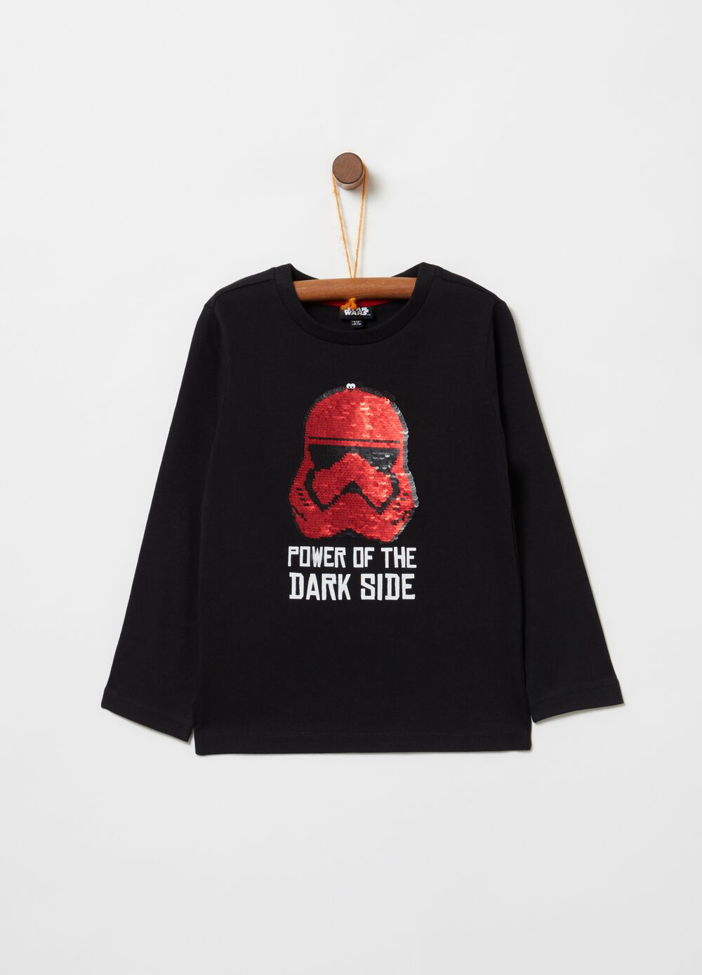 T-shirt with sequins and Star Wars print