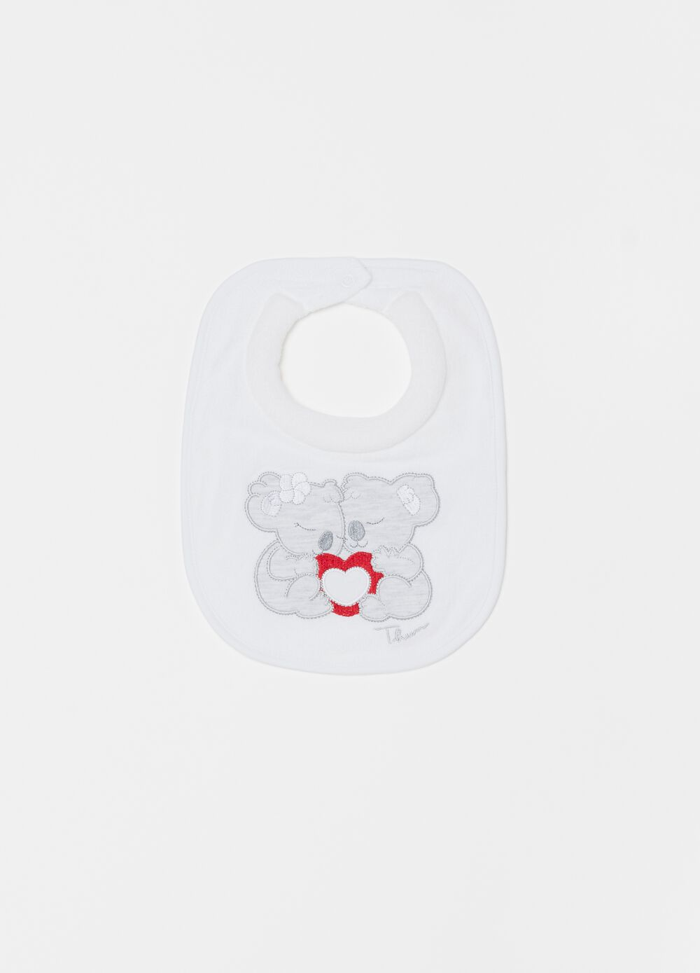 100% organic cotton bib with THUN embroidery
