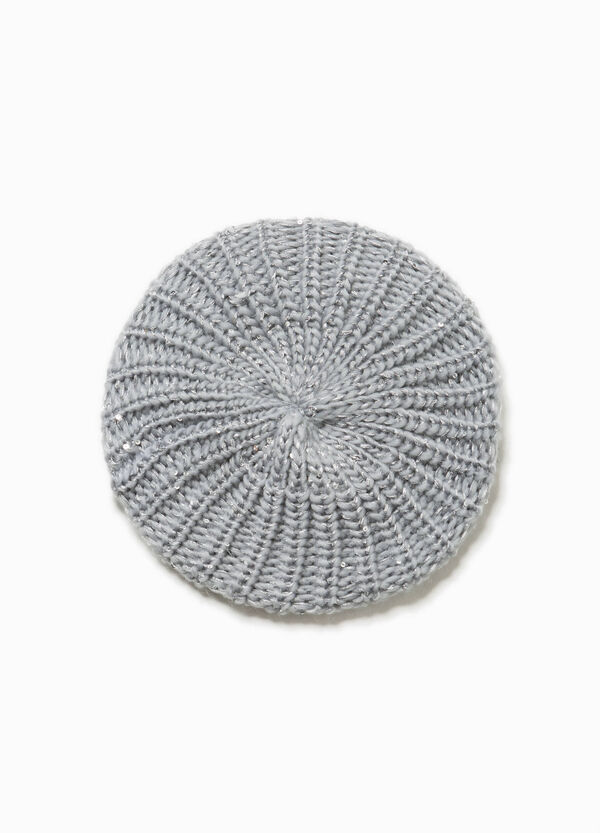 Solid colour beret with sequins   OVS