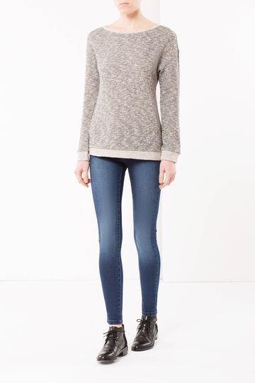 Skinny fit jeans with runs