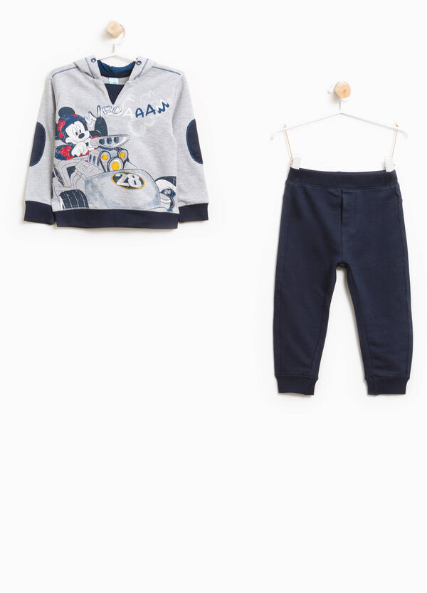 Mickey Mouse maxi print cotton tracksuit