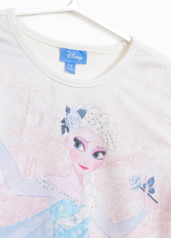 T-shirt in cotone stretch stampa Frozen