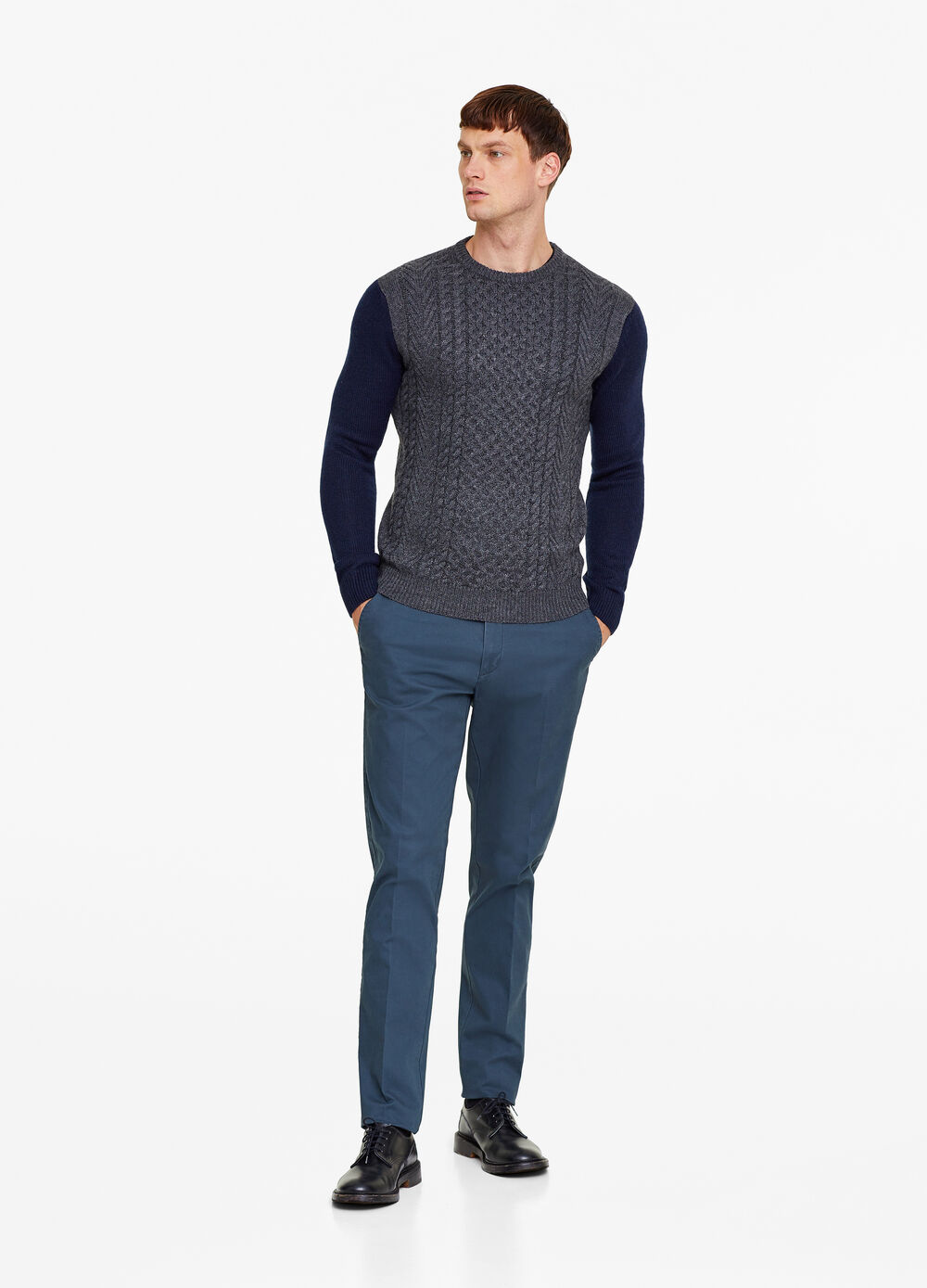 Knitted pullover in alpaca wool blend