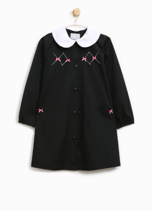 Cotton blend smock with bows | OVS