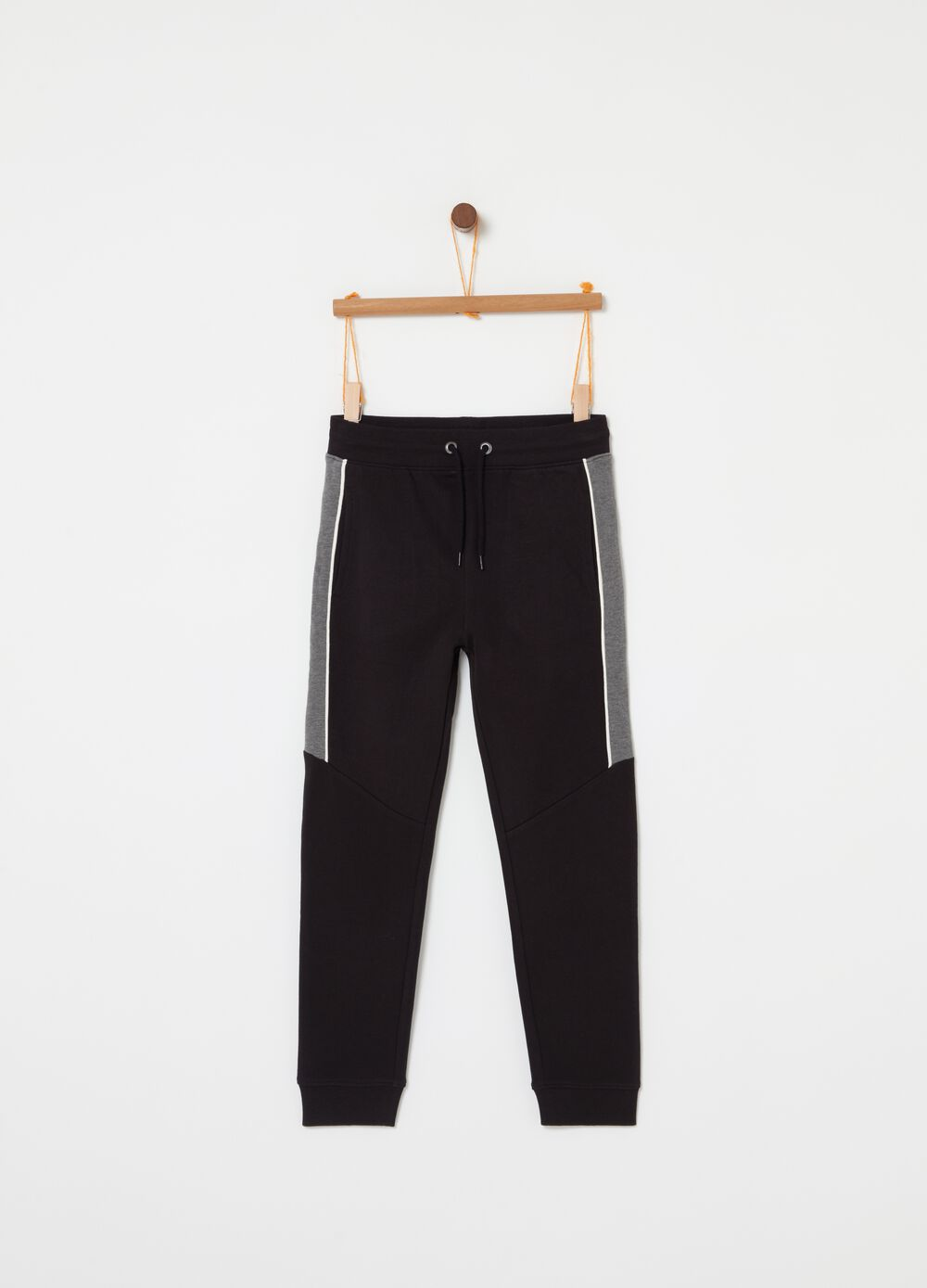 Fleece jogger trousers with inserts