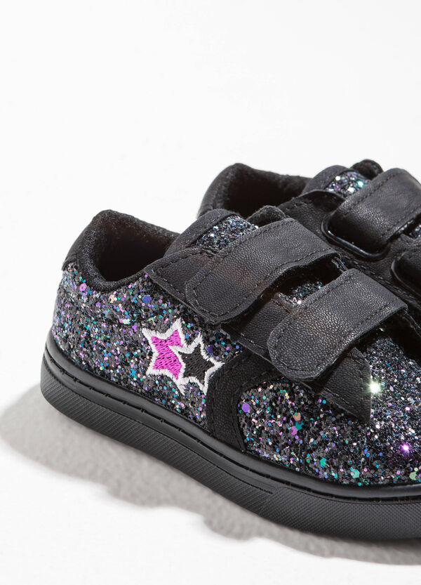 Glitter canvas sneakers | OVS