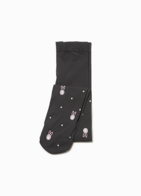 Collant stretch a pois e animaletti | OVS