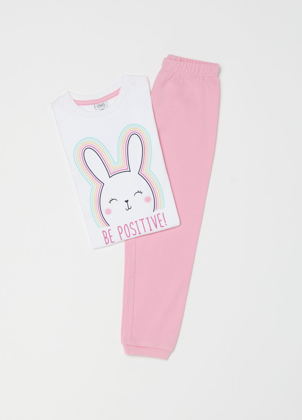 Pyjamas with rabbit print
