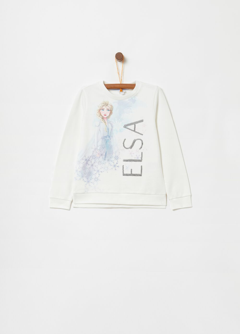 Stretch sweatshirt with Disney Frozen print