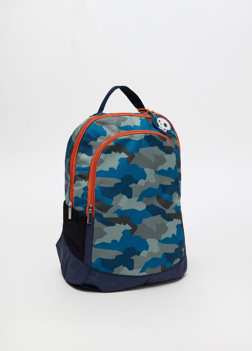 Camouflage backpack with double compartment