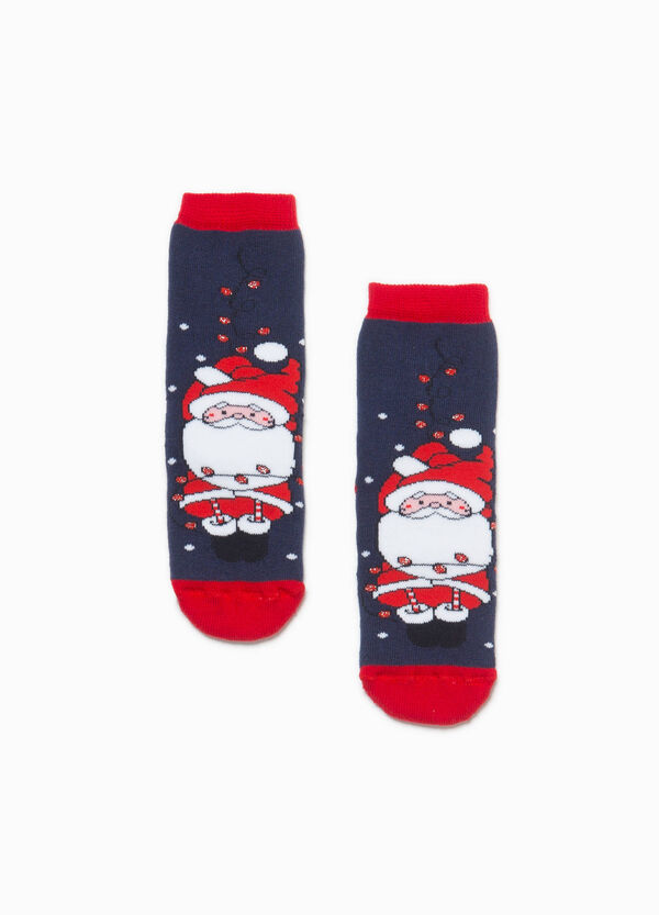 Father Christmas embroidered slipper socks | OVS