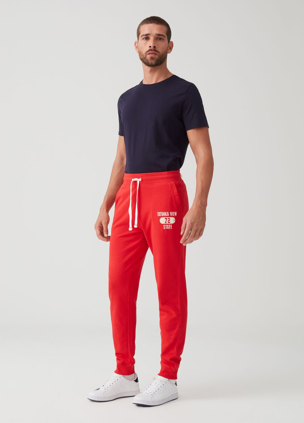 100% organic cotton jogger trousers with print