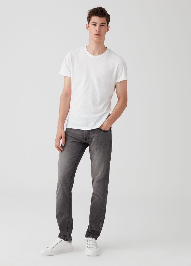 Slim fit, vintage-effect jeans