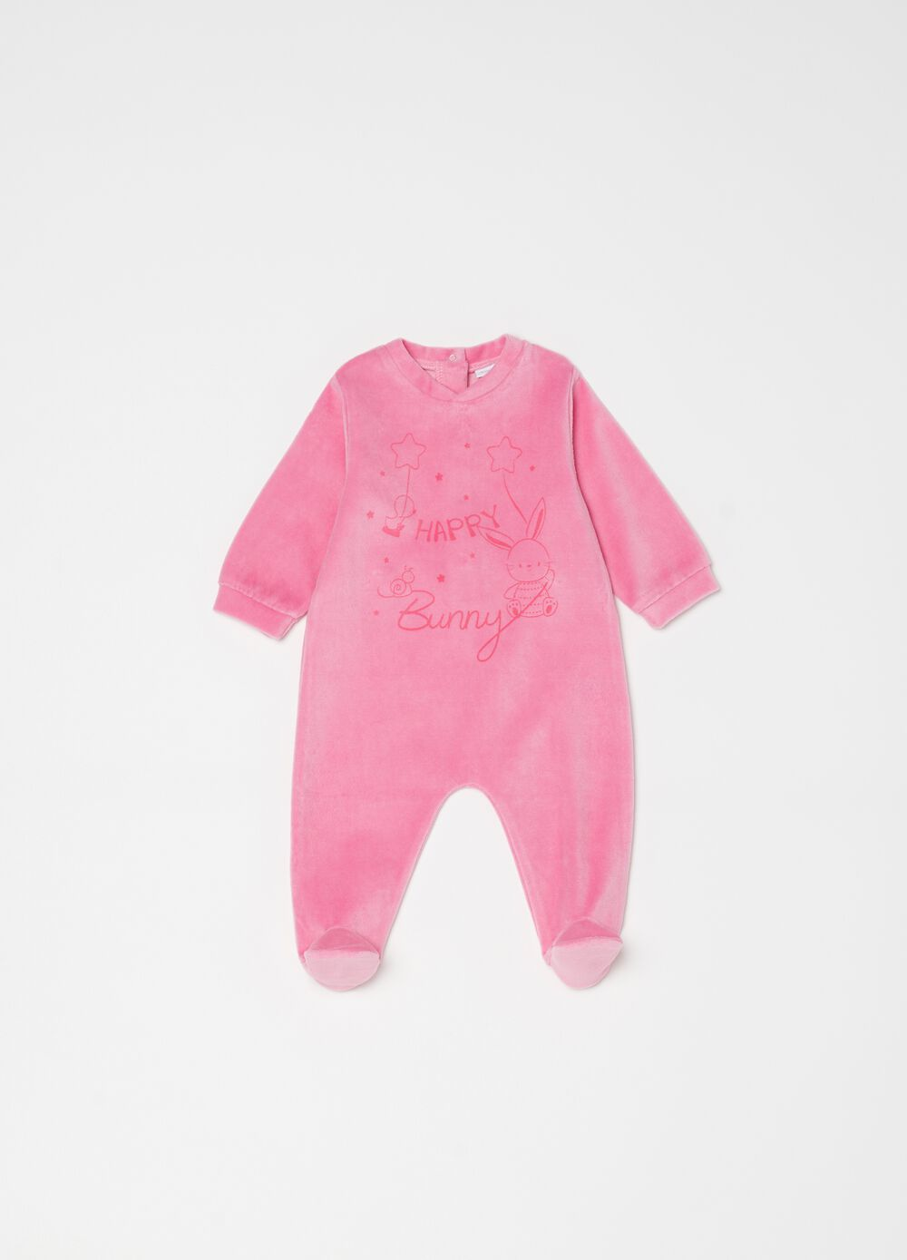 Onesie with feet, V-neck and animals