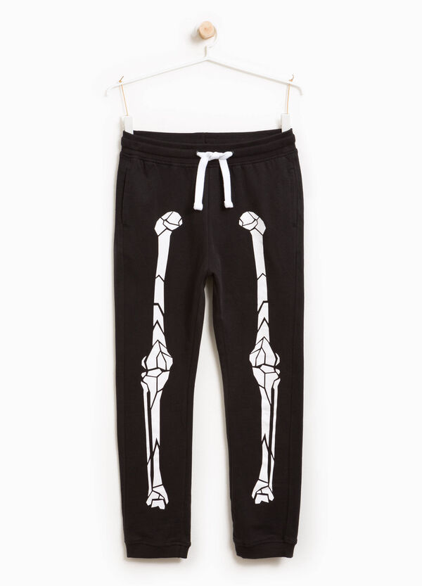 Cotton joggers with skeleton print | OVS