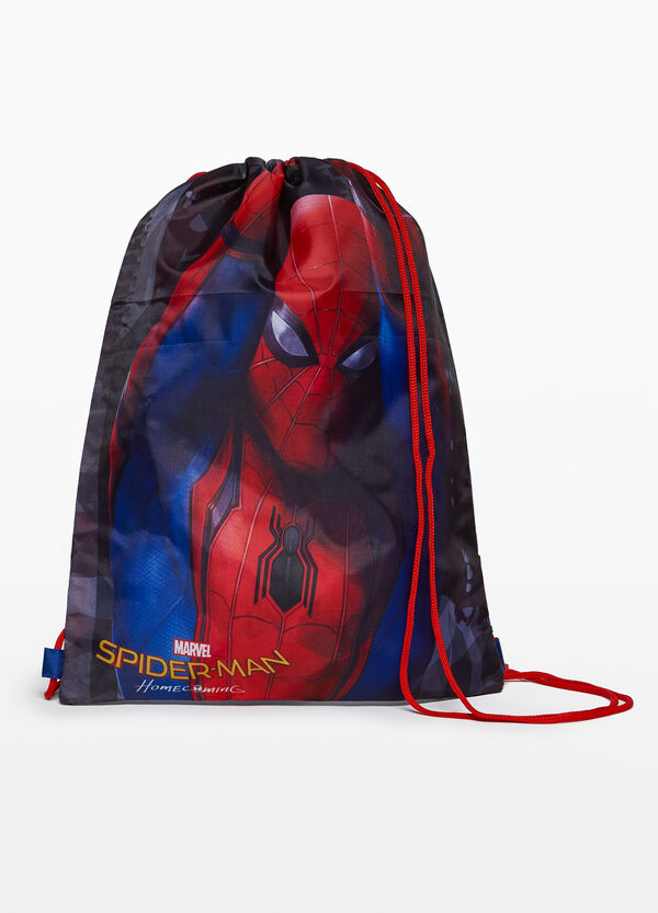 Satchel backpack with Spiderman print