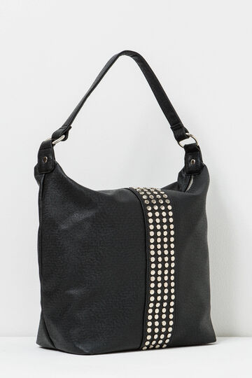 Shoulder bag with zip and studs