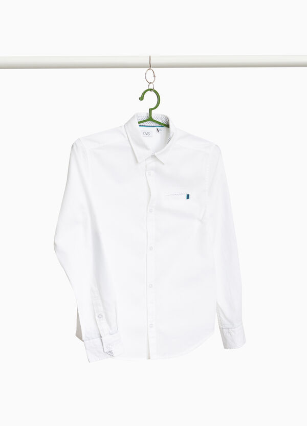 Camicia in puro cotone con patch