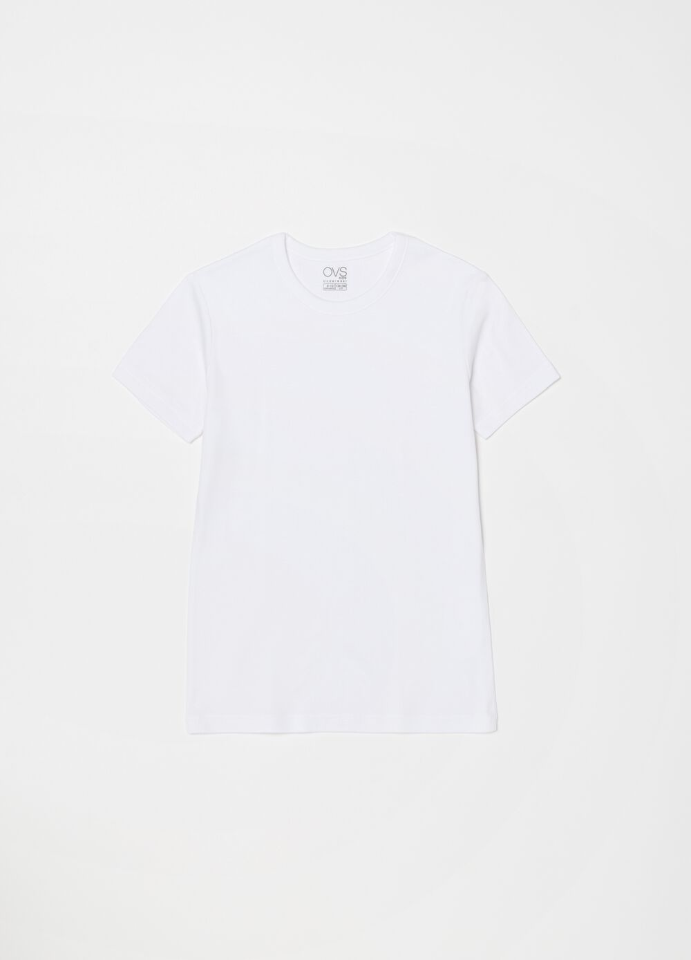 100% organic cotton undershirt with ribbing