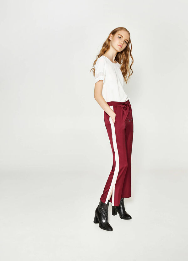 Stretch trousers with side bands | OVS
