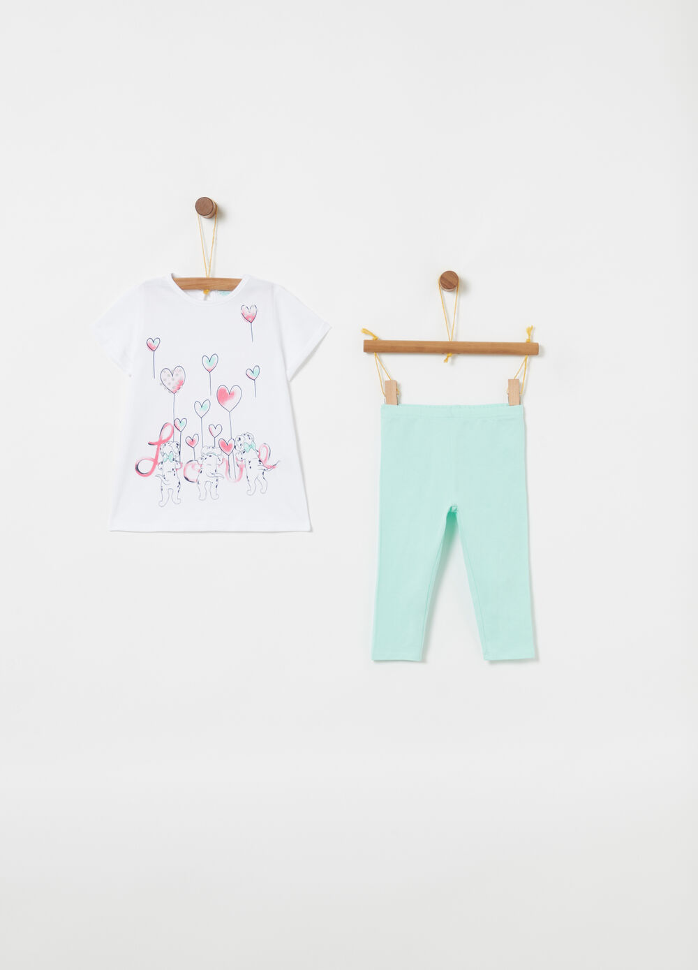 Disney Baby biocotton glitter jogging set
