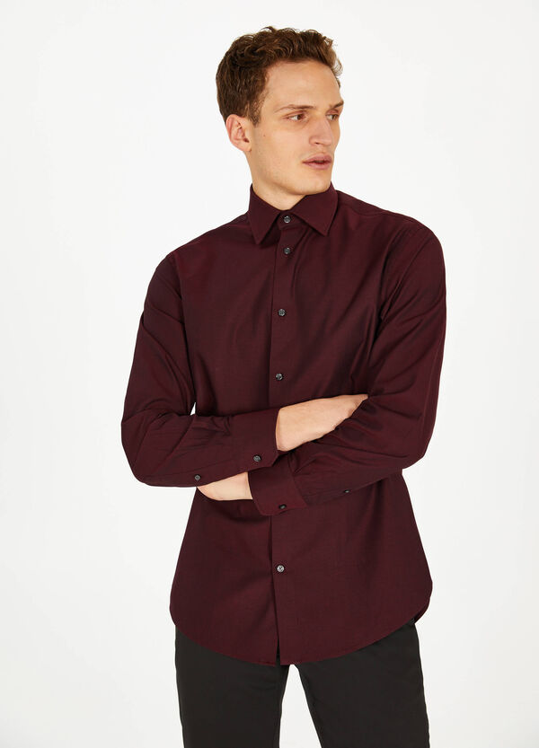 Cotton formal shirt with regular fit