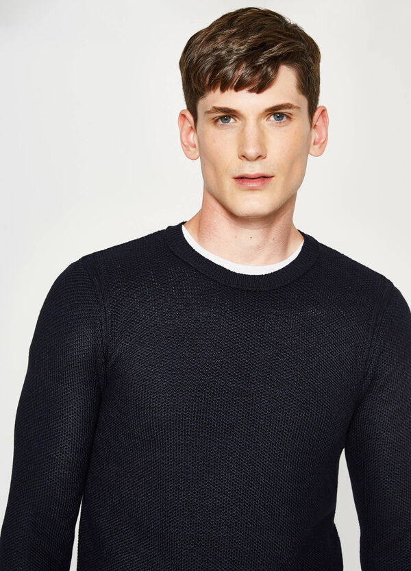 Cotton blend knitted pullover   OVS