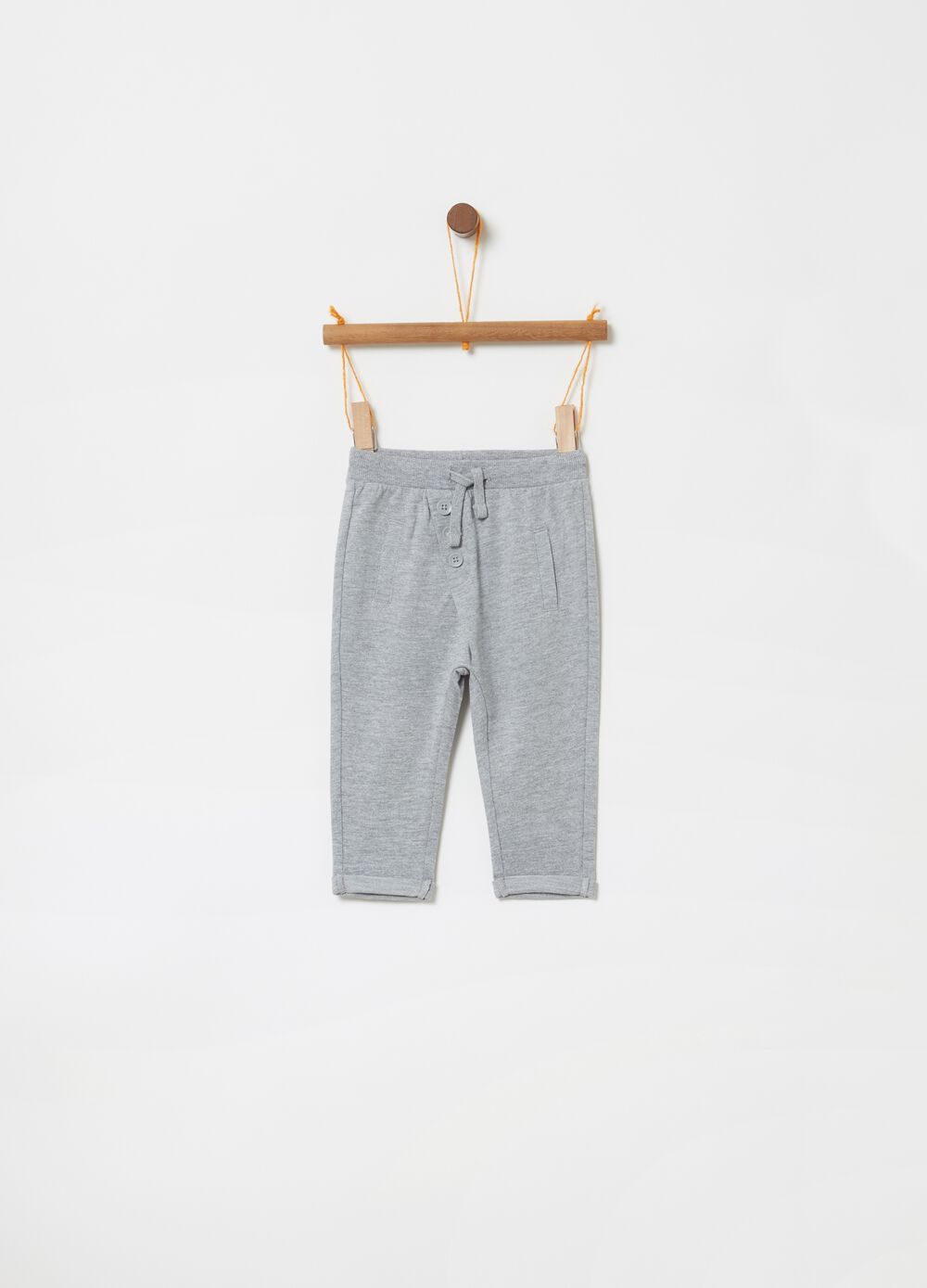 French terry mélange trousers