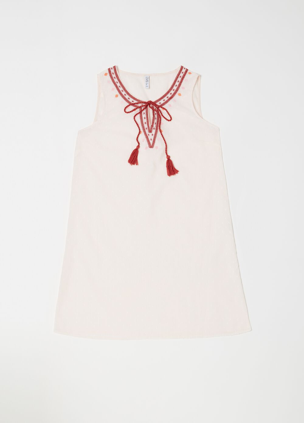 Sleeveless nightshirt with laces