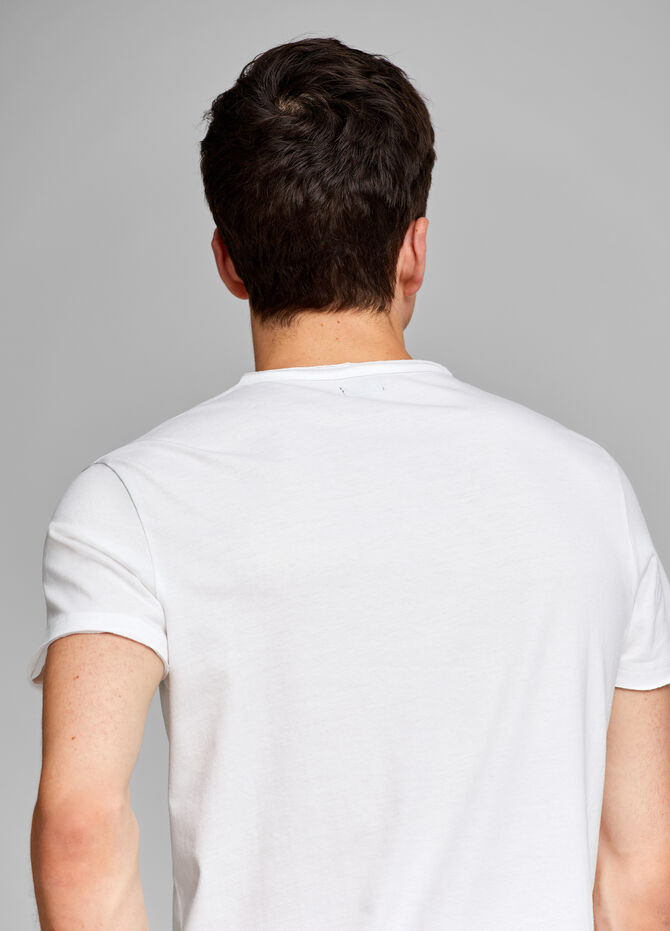T-shirt with lettering print and breast pocket